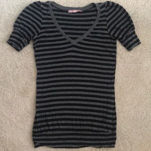 EUC Juicy Couture Black and Grey Striped Top